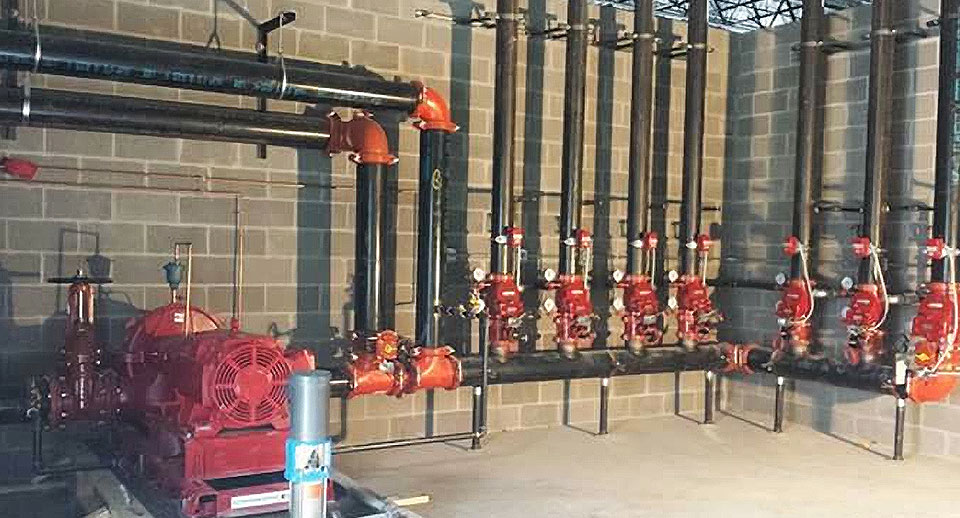 Brown sprinkler fire installation company in